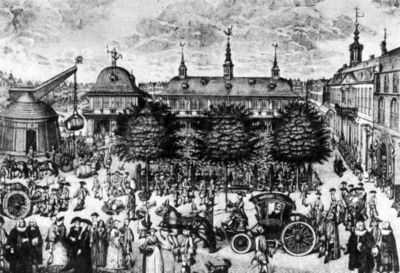 ハンブルクの取引所 1735年