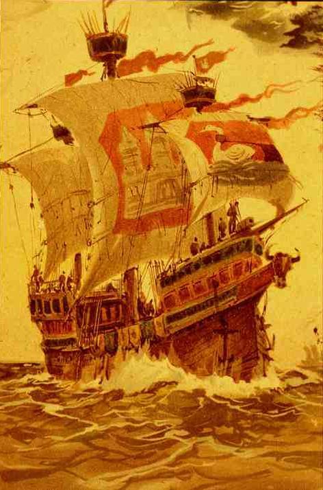 シュテルテベッカー討伐に使われたハンブルクのコッゲ船Bunte Kuh